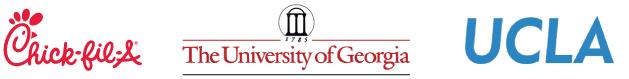 Chick Fil A, University of Georgia, UCLA