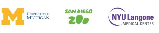 University of Michigan, San Diego Zoo, NYU Medical Center