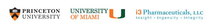 Princeton University, University of Miami, I3 Pharmaceuticals