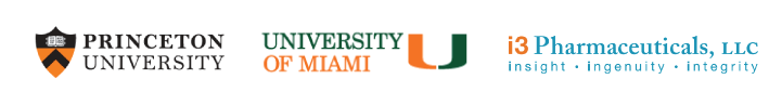Princeton University, University of Miami, I3 Pharmaceuticals